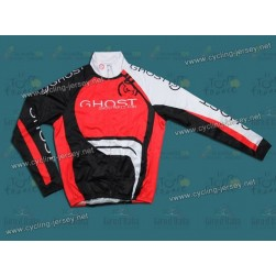2012 GHOST Black/Red Thermal Cycling Long Sleeve Jersey