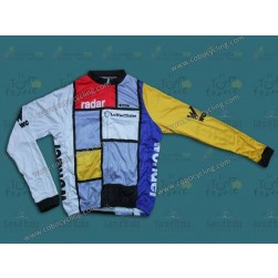 Team La Vie Claire Vintage Cycling Long Sleeve Jersey