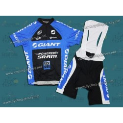 2011 Giant Team Cycling Jersey And Bib Shorts Set
