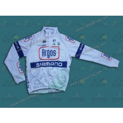 2013 Argos White Thermal Cycling Long Sleeve Jersey