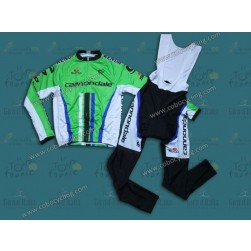 2014 Cannondale Factory Team Long Sleeve Cycling Jersey And Bib Pants Set