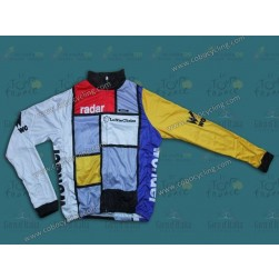 Team La Vie Claire Vintage Thermal Cycling Long Sleeve Jersey