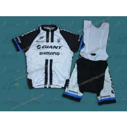 2014 Team Giant Shimano White Cycling Jersey And Bib Shorts