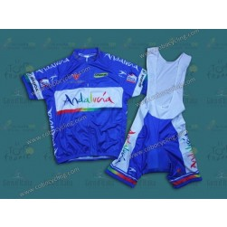 2012 Andalucia Blue Cycling Jersey And Bib Shorts