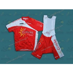 2013 Team Cofidis Red Cycling Jersey And Bib Shorts