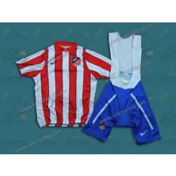 Team Atletico Madrid Cycling Jersey And Bib Shorts