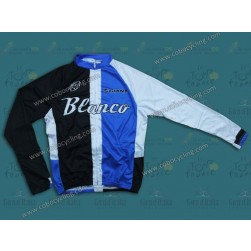2013 Blanco Black And Blue Cycling Long Sleeve Jersey