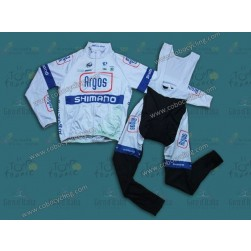 2013 Argos White Thermal Long Cycling Jersey And Bib Pants