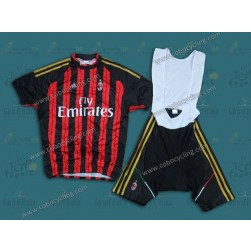 2014 Team AC Milan Cycling Jersey And Bib Shorts