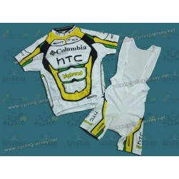 2010 Columbia HTC Highroad Team Cycling Jersey and Bib Shorts Set