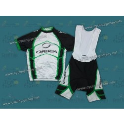 2012 Orbea White And Green Cycling Jersey and Bib Shorts Set