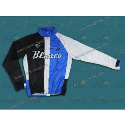 2013 Blanco Black And Blue Thermal Cycling Long Sleeve Jersey
