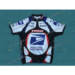 2000 USPS White And Blue Cycling Jersey