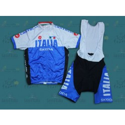 2014 Italy Skoda Cycling Jersey And Bib Shorts