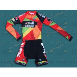2014 Team Cinelli Chrome Long Sleeve Cycling Skinsuit Time Trail Skin Suits
