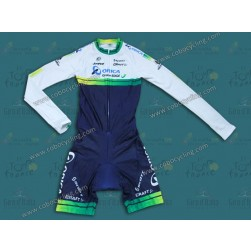 2014 Orica - Green EDGE Long Sleeve Cycling Skinsuit Time Trail Skin Suits