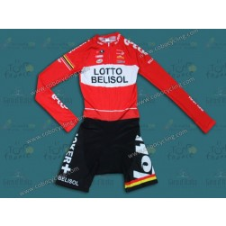 2014 Team Lotto Long Sleeve Cycling Skinsuit Time Trail Skin Suits