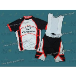 2012 Orbea White And Red Cycling Jersey and Bib Shorts Set