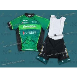 2013 Team Europcar Vendee Cycling Jersey and Bib Shorts