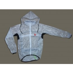 2013 Castelli White Transparency Raincoat/Waterproof