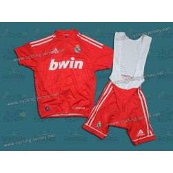 2011 TEAM REAL MADRID RED Cycling Jersey and Bib Shorts Set