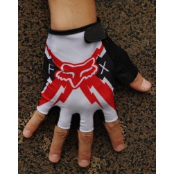 2014 Team Fox White And Red Cycling Glove